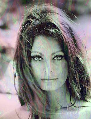 Photograph - Sophia Loren - Psychedelic by Doc Braham