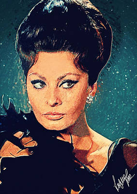 Italian Actress Digital Art - Sophia Loren by Taylan Apukovska