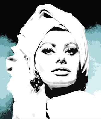 Italian Actress Digital Art - Sophia Loren by Veronica Crockford