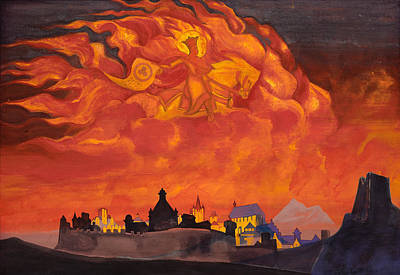 Horseback Painting - Sophia, The Wisdom Of The Almighty by Nicholas Roerich