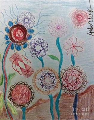 Animals Drawings - Sophias Flowers by Just Another-Bird