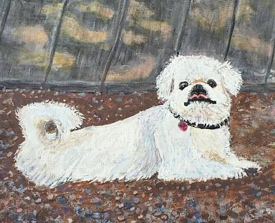 Painting - Sophie The Pekingese by Anne Sands