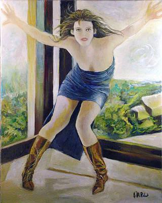 Sophie Marceau Art Print by Jean-Marc Robert