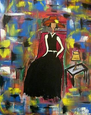 Sophisticared Lady Art Print by Glenda  Jones