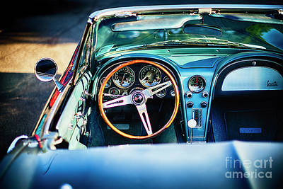 Cockpit Photograph - Sophisticated American Classic Car Interior by George Oze