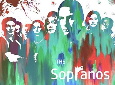 Sopranos Paint Poster Art Print by Dan Sproul