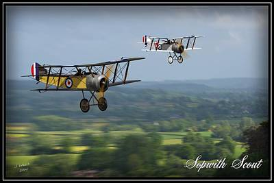 Camel Digital Art - Sopwith Scout 2 by John Wills