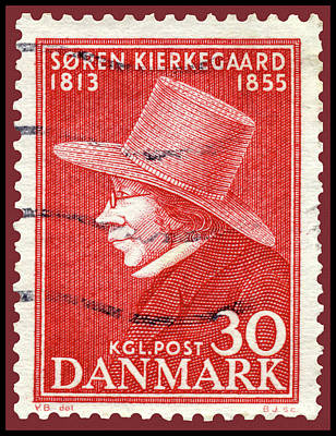 Photograph - Soran Kierkegaard Danish Postage Stamp by Phil Cardamone