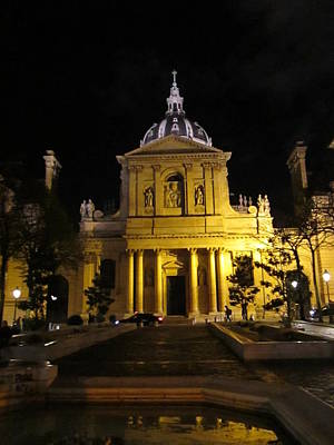 Photograph - Sorbonne Night by Christopher Kirby