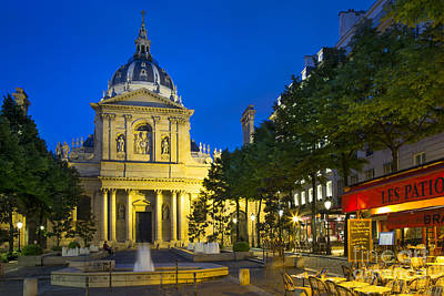 Photograph - Sorbonne Twilight - Paris by Brian Jannsen