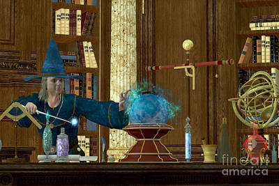 Supernatural Digital Art - Sorcerer Magician by Corey Ford