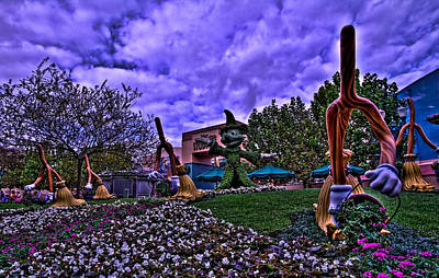 Photograph - Sorcerer Mickey Topiary Hdr by Jason Blalock
