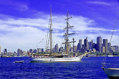 Polaroid Camera - Soren Larsen Sailing Past City Of Sydney by Miroslava Jurcik