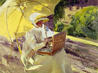 Of Painter Photograph - Sorolla: Painter, 1907 by Granger