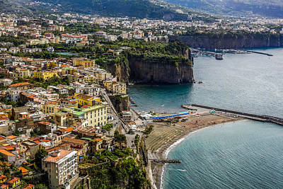 Photograph - Sorrento And The Bay Of Naples In Italy by Marilyn Burton