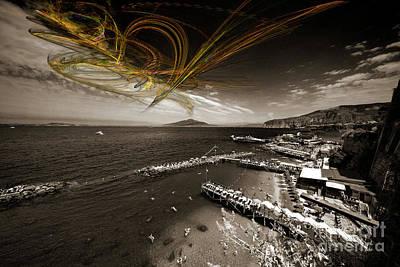 Fractals Fractal Digital Art Photograph - Sorrento Erupts by Rob Hawkins