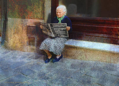 Digital Art - Sorrento News by Patrick J Osborne
