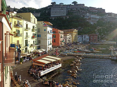 Photograph - Sorrento Port Of Marina Grande Harbour by Gregory Dyer