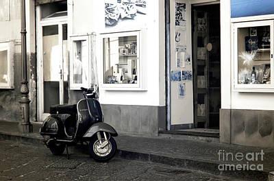 Photograph - Sorrento Vespa Parking by John Rizzuto