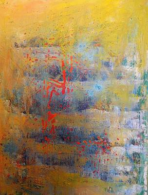 Abstract Art Painting - Sorrow The Sun by Karen Lillard