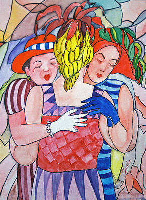 Sorrowful Sisters Art Print by AnnE Dentler