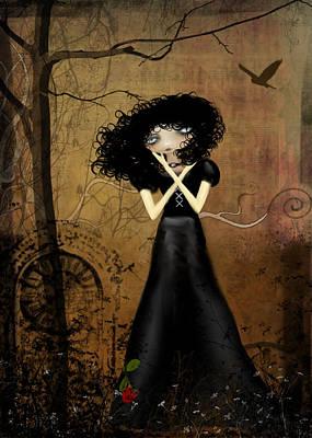 Goth Girl Digital Art - Sorry by Charlene Zatloukal