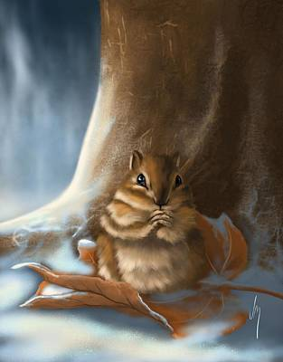 Squirrel Wall Art - Painting - Sorry by Veronica Minozzi
