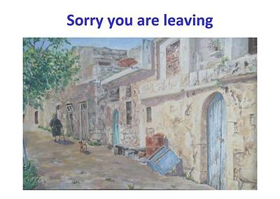 Old Neighbourhood Painting - Sorry You Are Leaving by David Capon