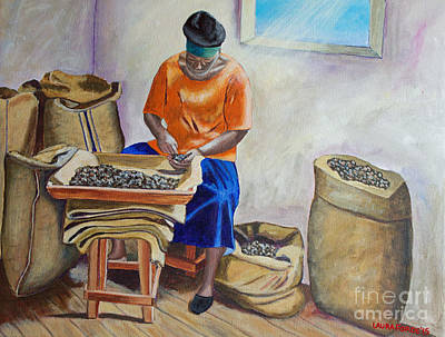 Sorting Nutmegs Art Print