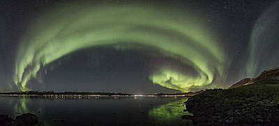 Northern Lights Photograph - Sortland Strait by Frank Olsen