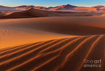 Sossusvlei Sand Dunes Art Print by Inge Johnsson