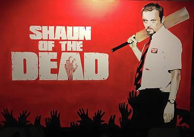 Shaun Of The Dead Painting - Sotd by Luke Glasscock