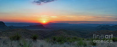 Desert Sunset Photograph - Sotol Overlook Sunset Pano by Tod and Cynthia Grubbs