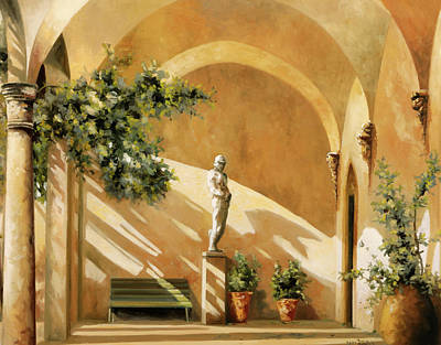 Paintings - Sotto Il Portico by Guido Borelli