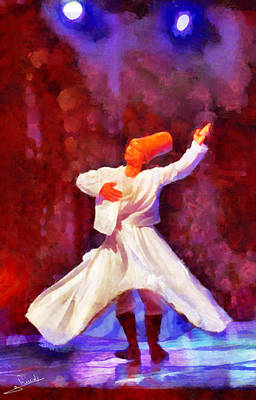 Pyramids Painting - Soufi Dance 2 by George Rossidis