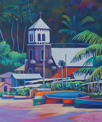 Painting - Soufriere Church Tower by Glenford John