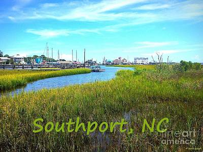 Painting - Souhtport Marsh Poster by Shelia Kempf