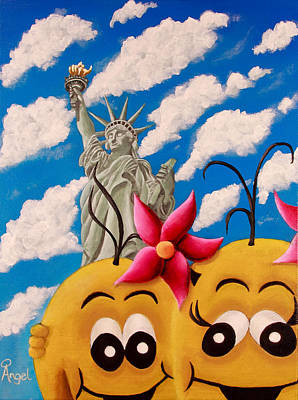 Soul Angels - New York Selfie Art Print