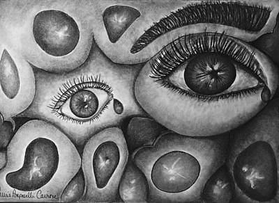 Abstract Shapes Drawing - Soul Cleansing by Laurie Cairone