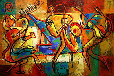 Forms Painting - Soul Jazz by Leon Zernitsky