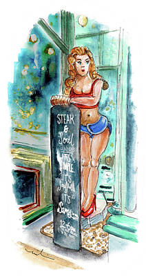 Painting - Steak And Soul On Sundays In Truro by Miki De Goodaboom