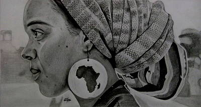 Single Drawing - Soul Of Africa by Silpa Saseendran