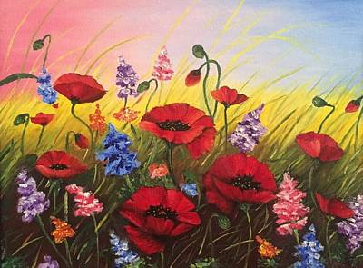 Soul Of May. Lovely Poppies. Original