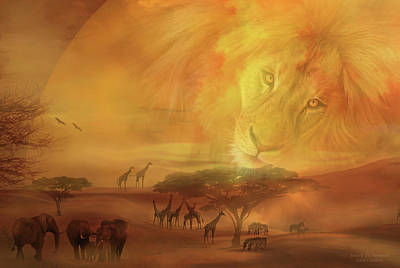 Mixed Media - Soul Of The Savannah 2 by Carol Cavalaris