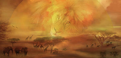 Mixed Media - Soul Of The Savannah by Carol Cavalaris