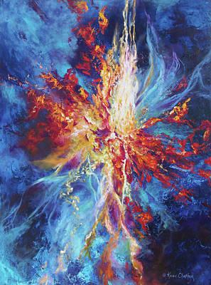 Karen Chatham Art Painting - Soul On Fire by Karen Kennedy Chatham