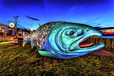 Photograph - Soul Salmon During Blue Hour by Rob Green