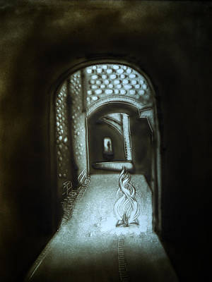 Drawing - Soul Transition by Elena Vedernikova