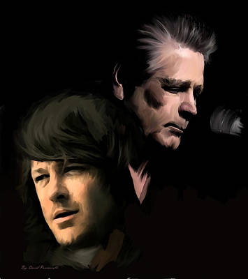 Sound Drawing - Soulful Genius Brian Wilson  by Iconic Images Art Gallery David Pucciarelli