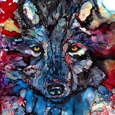 Soulful Wolf Art Print by Jane Marlin
